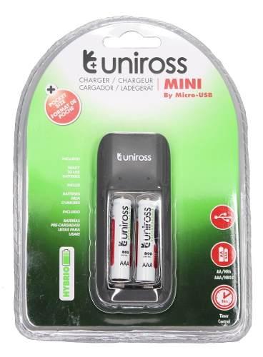Cargador Usb De Baterias Aa Y Aaa Uniross