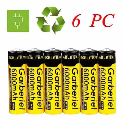 Cargador Y 6 Baterias Pilas Recargables  V mah