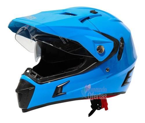 Casco Para Motocicleta Cross Enduro Con Mica Gafas