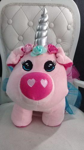 Cerdito-unicornio De Peluche, Dorado,36cm+ Regalo+envió Gra