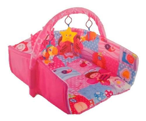 Gimnasio Tapete Para Bebé Aeiou Happy Space Azul Y Rosa