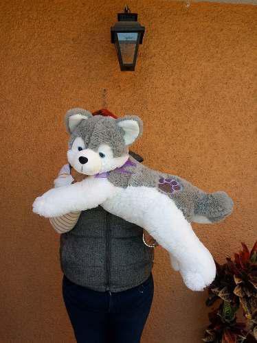 Hermoso Lobo Husky Siberiano Suave De 65 Cm De Largo