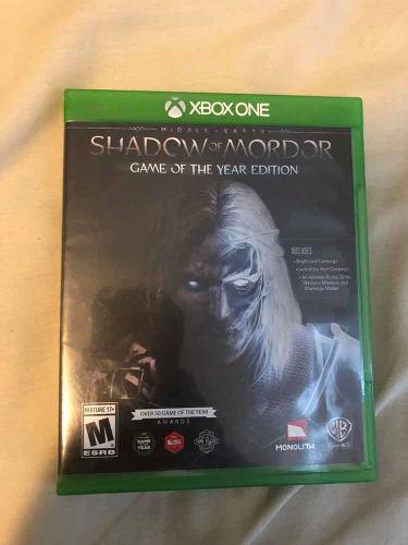 Juego: shadow Of Mordor Edición Juego Del Año Para Xboxone