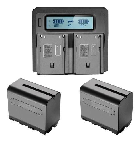 Kit 2 Baterías Tipo Sony Npf970 + Cargador Rápido Doble