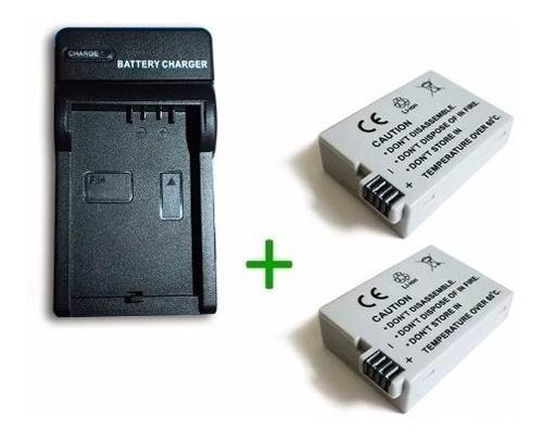 Kit Cargador + 2 Baterias Lp-e8 Canon Eos 550d 600d Rebel T2