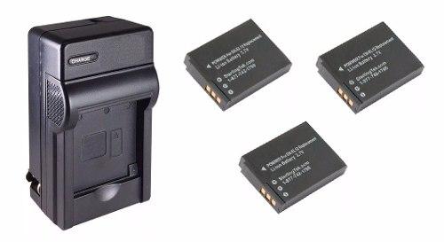 Kit De 1 Cargador Y 3 Baterías En-el12 Para Cámara Digital