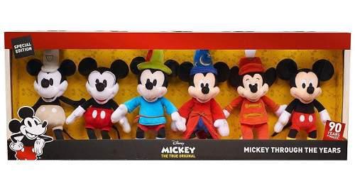 Mickey Mause Set 6 Peluches Disney 90th True Original 2018