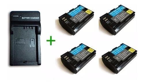 Pack Cargador + 4 Baterias Lp-e6 Para Canon Eos 5d Eos 60d