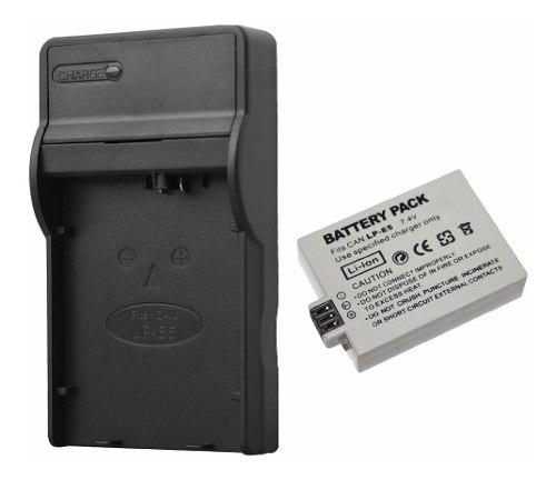 Pack Cargador Y Batería Para Canon Lp-e5 Eos d 450d