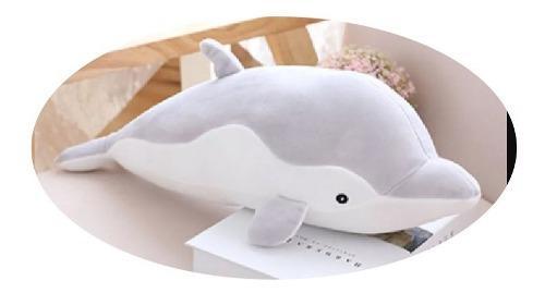 Peluche Almohada De Delfin Felpa Ultra Suave 50 Cm