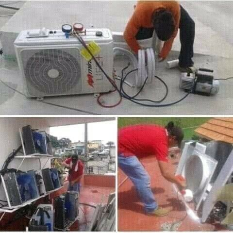 Reparación y mantenimiento de minisplit y climas de ventana