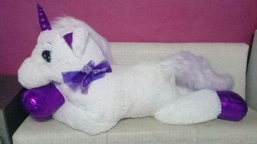 Unicornio Gigante 1.70 Blanco Con Rosa+regalo + Envió