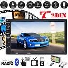 7in 2 Din Car p Mp5 Video Player Bluetooth Rear View Bac