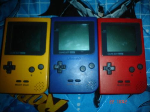 Game Boy Pocket 1 Consola + Pokemon Rojo Y Azul Español Gbp