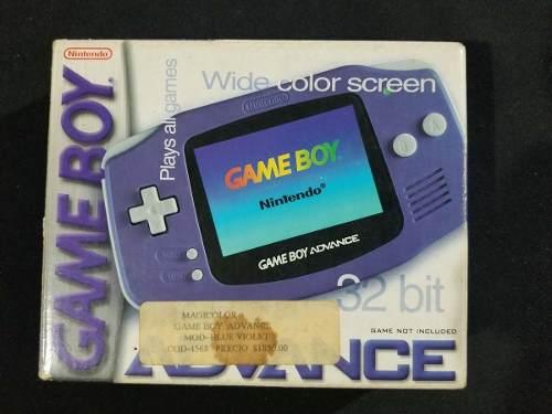 Gameboy Advance Morado Con Caja A