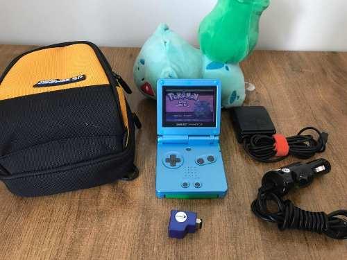 Nintendo Game Boy Advance Sp Azul Con Accesorios