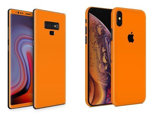 Skin Naranja Para Apple Samsung Huawei Lg Sony Xiaomi Etc