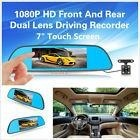 p Hd Dual Lens Car Rear View Mirror Dvr Video Record