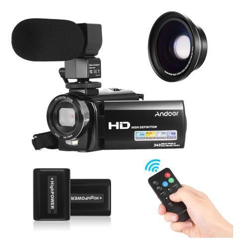 Andoer Hdv-201lm 1080p Fhd Cámara De Vídeo Digital