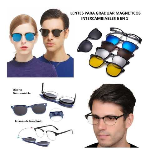 Armazon Graduable 5 En 1 Gafas Intercambiables Modelo a