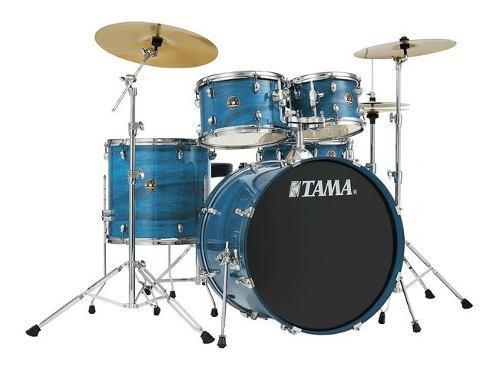 Batería Tama Rhythm Mate De 5 Piezas Azul Con Atriles