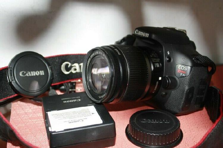 Camara Dslr Canon Eos T3i Con Lente Ef-s 18-55mm
