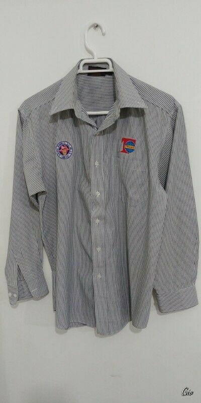 Camisa manga larga para hombre (con logotipos de empresa),