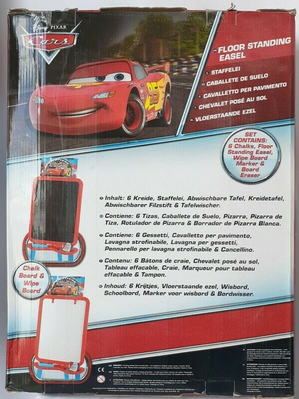 Cars Disney Dibujo Pizarra Kids FLoor Standing Easel Set