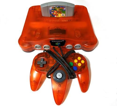 Consola Nintendo 64 Orange Fire + Super Mario 64 Videojuegos