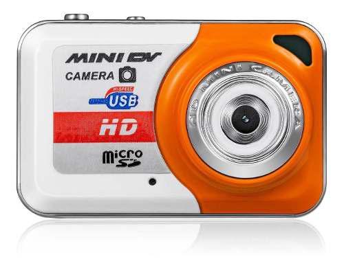 Mini Videocamara Dv Camara Hd Naranja