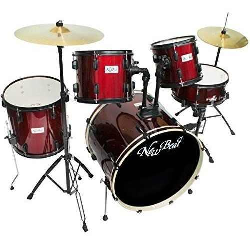 New Beat Nb320set-bkhw Batería New Beat Acustica