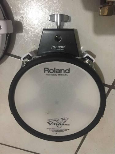 Roland Pd-80r Dual Zone Pad Batería Eléctrica Trigger