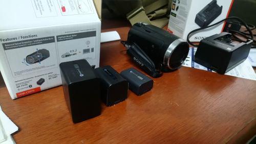 Sony Cx675 Videocamara+ Cargador Sony+ 2 Baterias Especiales