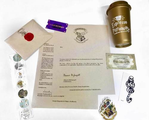 Carta De Aceptación A Hogwarts Harry Potter Con Taza O