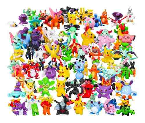 Coleccion 24 Figuras Pokemon Al Azar 3cm Pikachu Pokeball