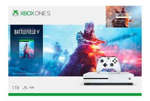 Consola Xbox One S 1tb Battlefield V Bundle 1 Control Blanco