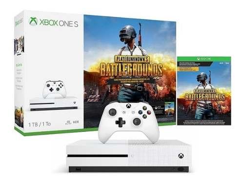 Consola Xbox One S 1tb Hdr 4k Ultra Hd Blu-ray Bundle Pubg