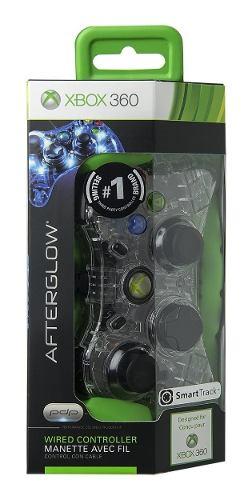 Control Xbox 360 Alambrico Afterglow Color Azul