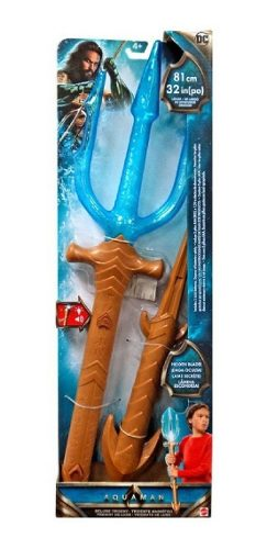 Dc Aquaman Tridente Magnifico Lujo Luz Y Sonidos Mattel