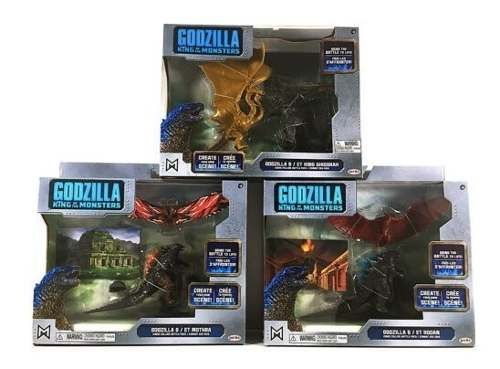 Godzilla King Monsters Mothra Rodan Ghidorah Llevate 3 Packs