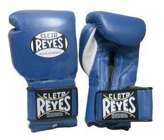 Guantes Cleto Reyes Azul Con Cierre De Contacto 14 Oz.