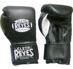 Guantes Cleto Reyes Negros Con Cierre De Contacto 12 Oz.