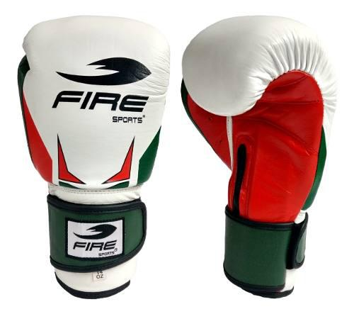 Guantes De Box Piel Genuina Fire Sports 12oz 14 Oz Tricolor