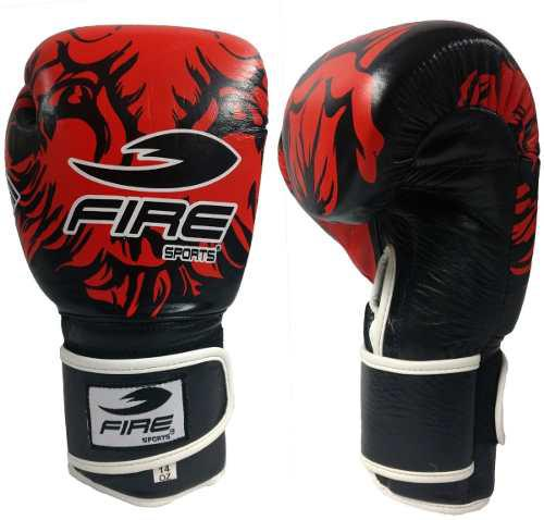Guantes De Box Piel Genuina Fire Sports 16oz O 18oz Tigre