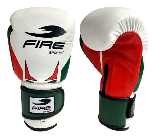 Guantes De Box Piel Genuina Fire Sports 16oz O 18oz Tricolor
