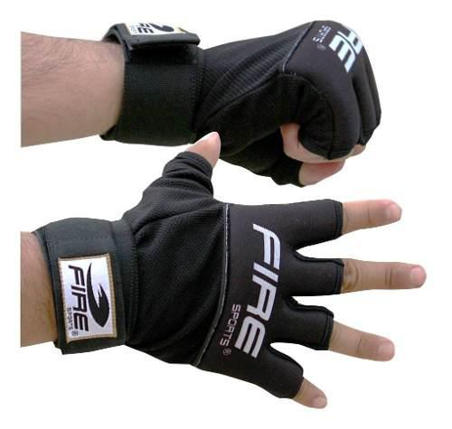 Guantes De Gel Y Vendaje Fire Sports Negro Box Mma