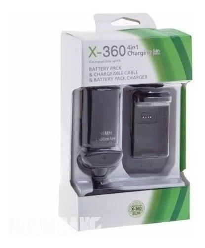 Kit Carga Y Juega 4 En 1 Para Control Xbox 360