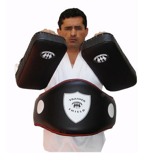 Kit Peto Para Entrenador Trainer Shield Belly Pad Y Thai Pad