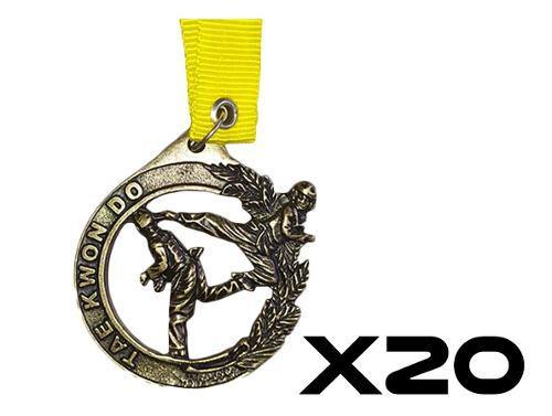 Medallas Para Taekwondo *paquete De 20 Pzas*