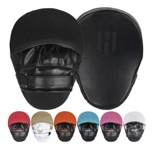 Par De Manoplas Mitts Hawk Box Mma Muay Thai Kick Boxing Bla